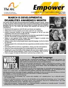 March 2016 Newsletter
