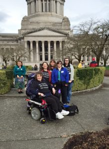 Advocates from Whatcom County attended Advocacy Days in the state capitol.